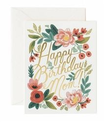 New for Spring 2015, Happy Birthday Mom card designed by Anna Bond for Rifle Paper Co.