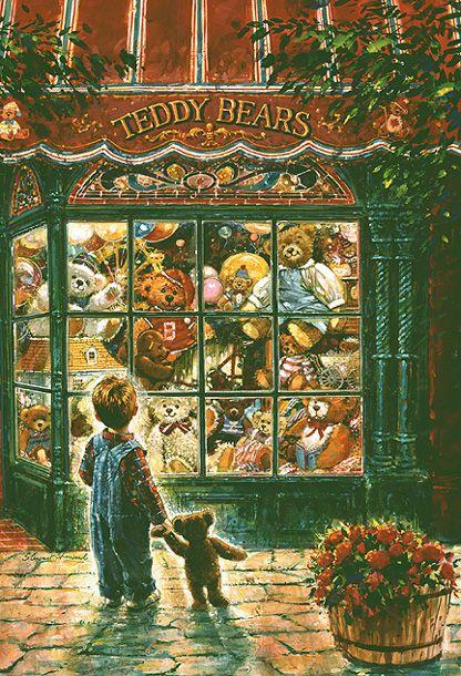 Stewart Sherwood (Canadian) http://www.pinterest.com/bringinghome/store-windows/ #vintage #christmas #vintagechristmas
