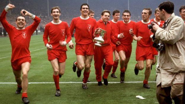 Liverpool celebrates winning the FA Cup final in 1965                                                 https://www.youtube.com/channel/UC_00FcuqK5Vav3DlMY21Ypw