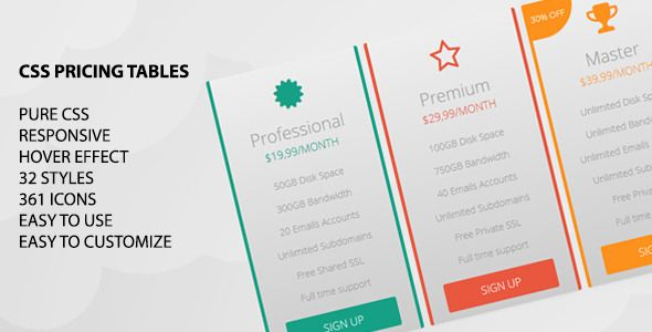 CSS Pricing Tables