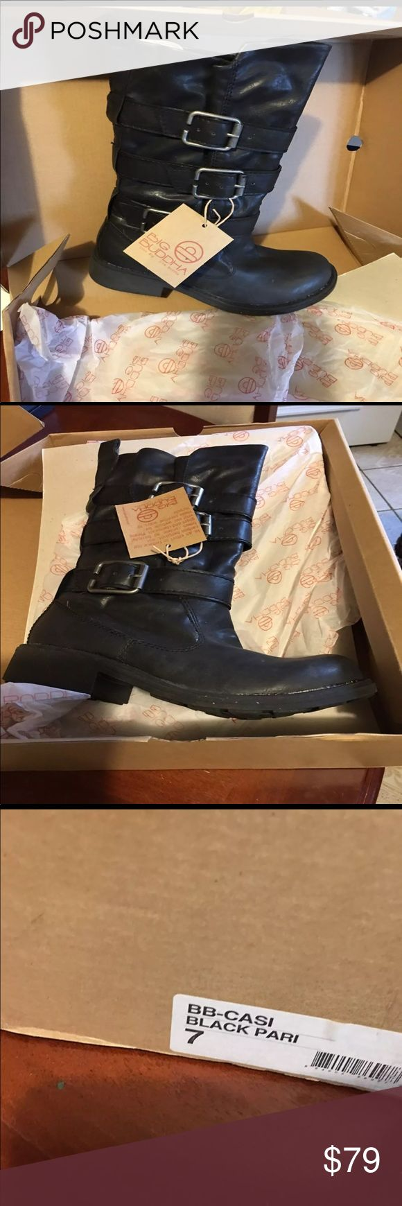 NWT Big Buddha Boots Comfortable black boots, never worn. Big Buddha Shoes Combat & Moto Boots