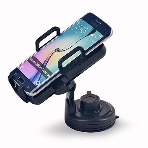 EasGear® Qi Standard Wireless Car Vehicle Charger Mount Holder for Galaxy S6/S6 Edge, Google Nexus 5, LG G3, G2, Nokia Lumia 928/920, Motorola Droid MAXX/MINI, HTC Droid DNA/8X and Other Qi- Enabled Smartphones. 2 in 1 deisgan: Car Wireless Charger + Smartphone Car Mount Holder. Fully adjustable with 360 degree rotation for optimal/full view. Sturdy Base : Regardless of road vibrations or impacts, the rubberized base can hold your phones in place, not falling. Offers an Easy One Touch...