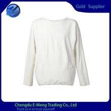 Fashion High Quality Long Sleeves Round Neck T shirt in White  best seller follow this link http://shopingayo.space