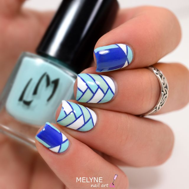 nail art géométrique tresse et ruffian LM Cosmetic kit striping tape