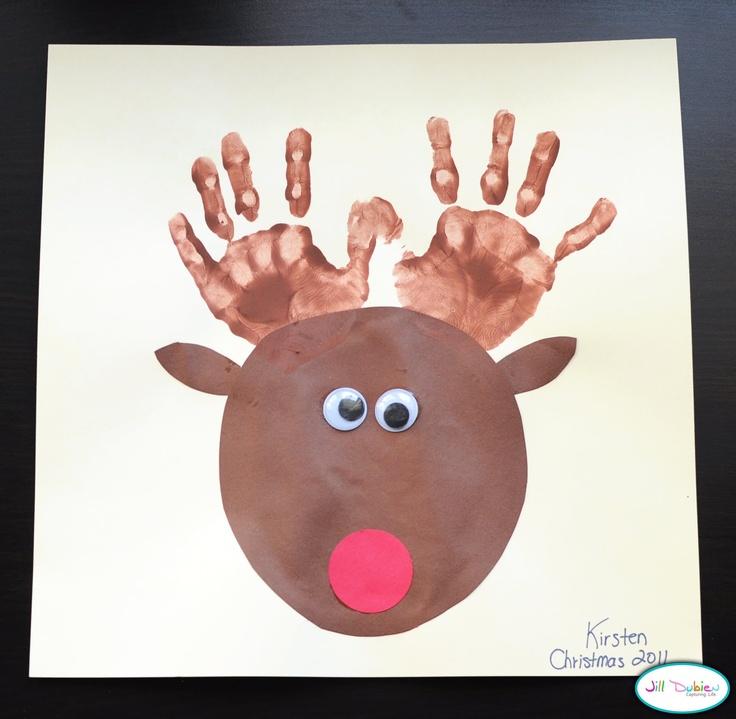 Новогодние открытки с ладошками двух детей, сделать открытку