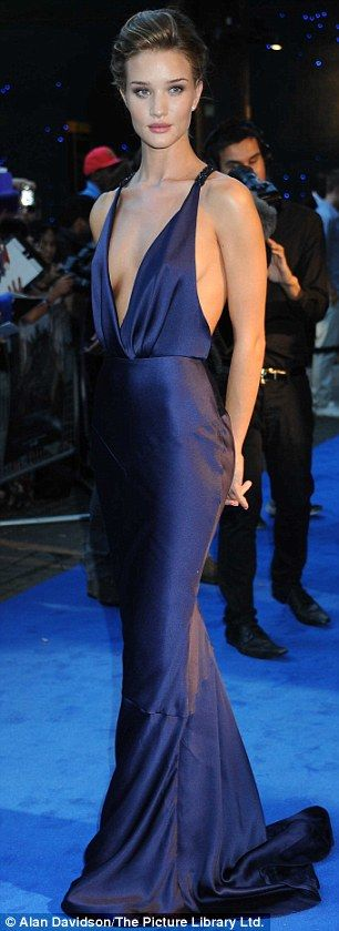 Hate the dress, but great color.( Why must I see so much breast all the time!) Soft Autumn hues: rosie huntington whiteley in burberry