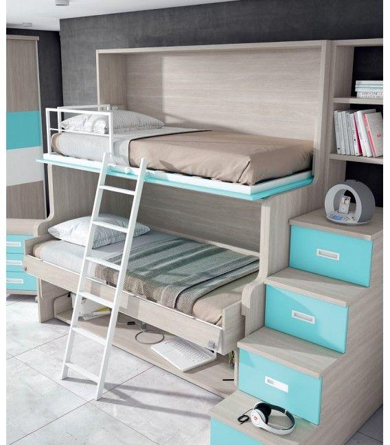 Litera Abatible Con Mesa Solut Literas Abatibles Literas Muebles Para Espacios Reducidos