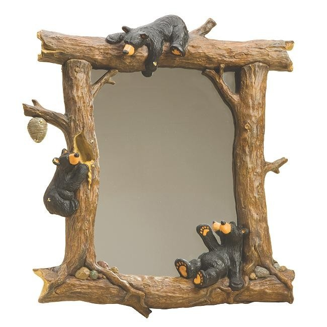 Honey Black Bears Mirror