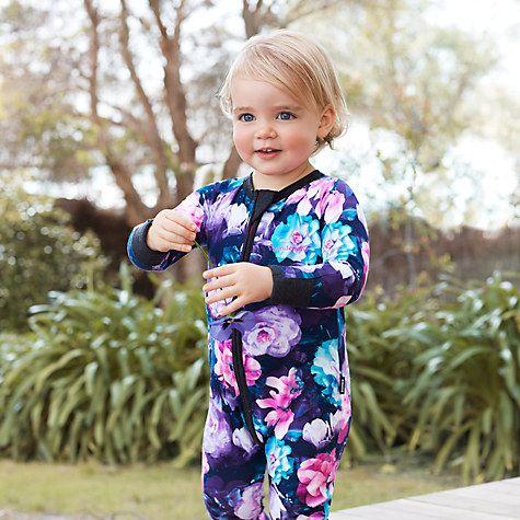 Buy Bonds Baby Gypset Blooms Zip Wondersuit Sleepsuit, Black/Multi Online at johnlewis.com