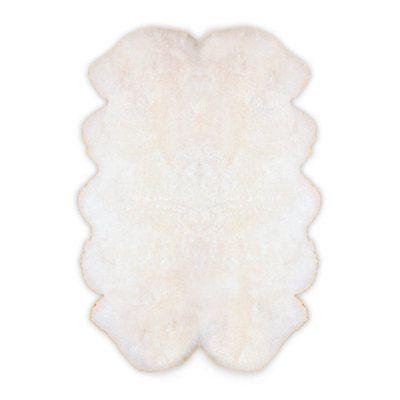 Merino Lammfell Teppich Fellteppich weiß ca. 110x185 cm Lammfellteppich