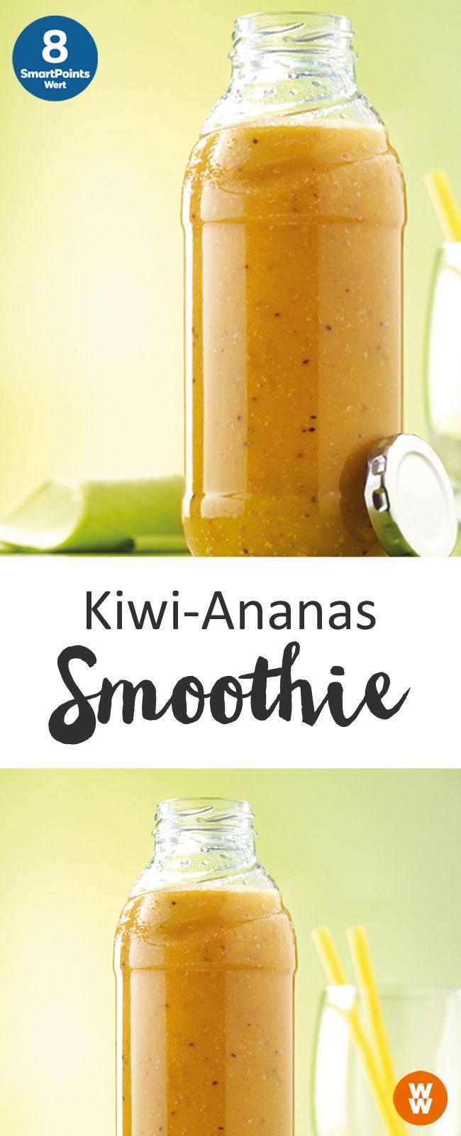 Kiwi-Ananas Smoothie | 8 SmartPoints/ Portion, Weight Watchers, fertig in 10 min.