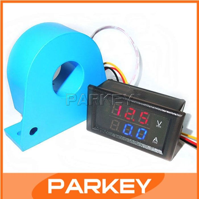 27.50$  Buy now - http://alizt9.shopchina.info/go.php?t=32363549716 - DC Voltage Current Bidirectional Measure 100V Voltage 200A Current Double Measure Panel Meter with Current transformer CT#200965  #aliexpress