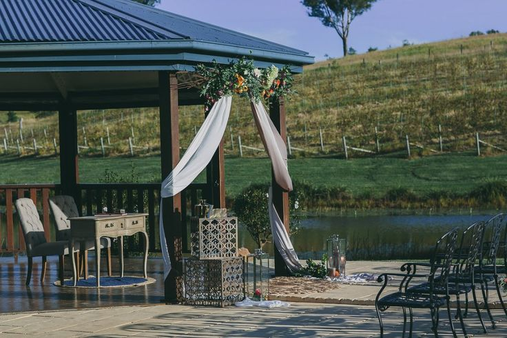 Sunshine Coast vineyard wedding ceremony at Oceanview Estate Private Winery…