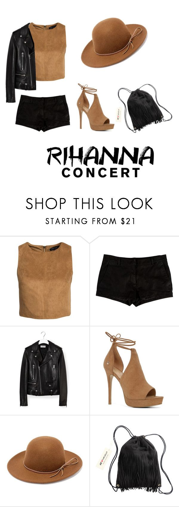 """Rihanna Concert- Black and Brown"" by gabydesigner on Polyvore featuring New Look, L'Agence, Yves Saint Laurent, ALDO, RHYTHM and H&M"