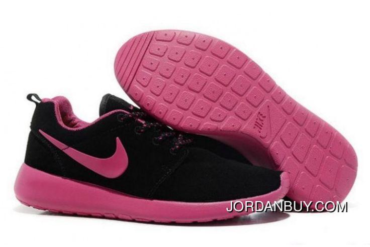 http://www.jordanbuy.com/nike-roshe-run-women-black-pink-trainers-suede.html NIKE ROSHE RUN WOMEN BLACK PINK TRAINERS SUEDE Only $85.00 , Free Shipping!