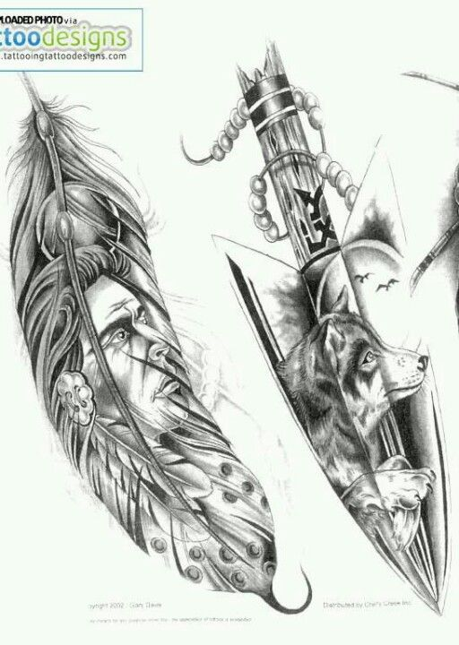 Indian Tattoo Designs..... Love The Wolfe One.