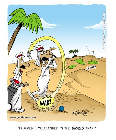 Golf in Middle East! #golfhumor #funny #cartoon