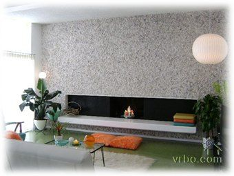 Mid century modern fireplace makeover and Living room 70s