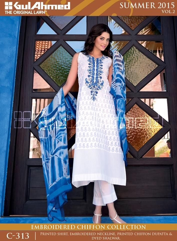 Summer Women Cotton Lawn Collection 2015 Vol-2 by Gul Ahmed geopk 12
