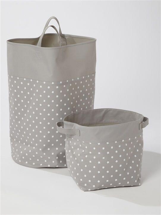 sacs à jouets gris petites étoiles - cyrillus