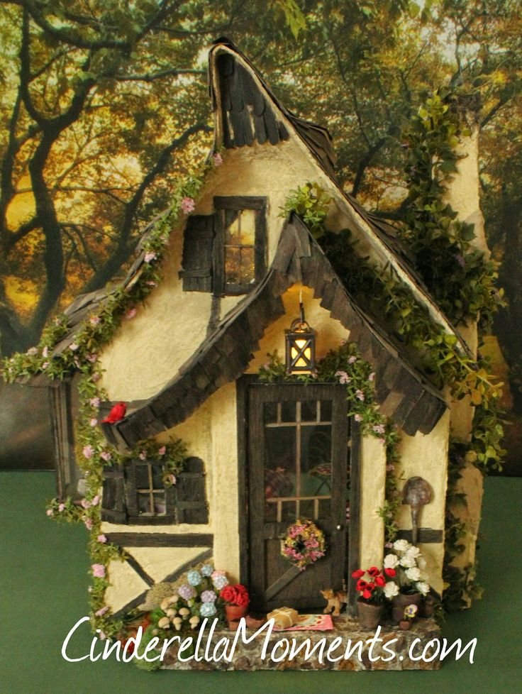 507 best Miniature Cottages & Fairy Houses images on Pinterest ...