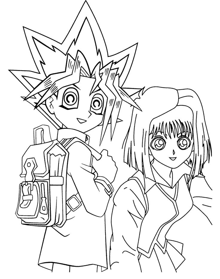 Yu Gi Oh And Tea Coloring Pages