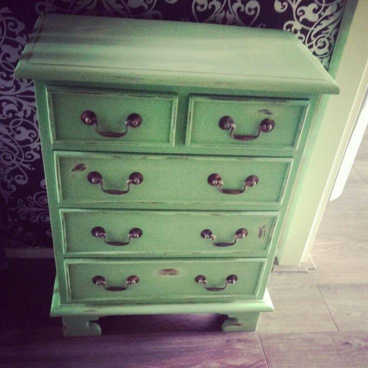 Very nice green dresser