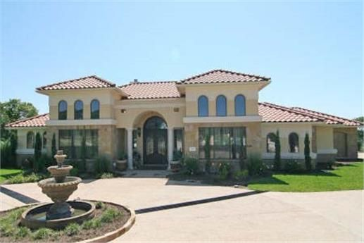 This is a great southwestern and texas style house plan for Texas mediterranean style homes