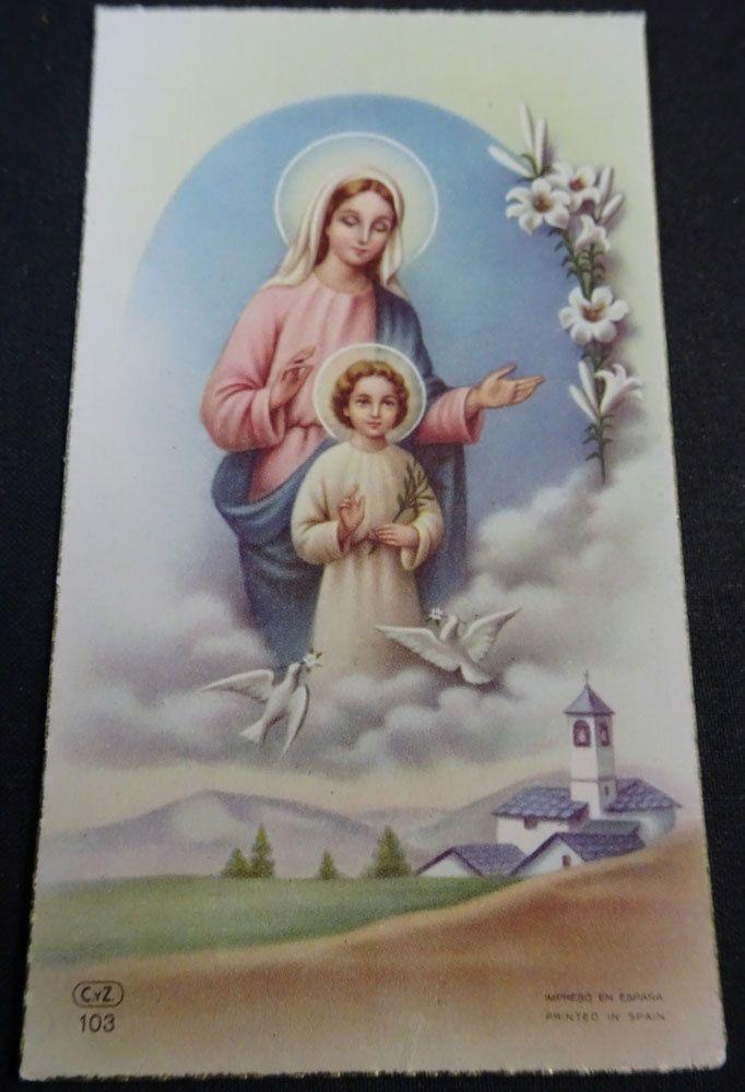 ESTAMPA Holy Card Primera Comunion Colegio Salesianas Valdepeñas Año 1955 Cc1470 - EUR 2,90. ANTIGUA ESTAMPA RELIGIOSA PRIMERA COMUNION COLEGIO SALESIANAS . VALDEPEÑAS . AÑO 1955 . USADA Y NO ESCRITA . ORIGINAL . MUY BONITA SIZE / TAMAÑO: ↕ 100 mm. ↔ 60 mm. OLD RELIGIOUS STAMP FIRST COMMUNION HOLY CARD . SALESIANS SCHOOL . VALDEPEÑAS . YEAR 1955 . USED AND NOT WRITTEN . ORIGINAL . VERY NICE. ¡¡¡MIRA ARTICULOS SIMILARES EN MI TIENDA!!!SEE SIMILAR ITEMS IN MY SHOP!!! Envío Único para Múlti...