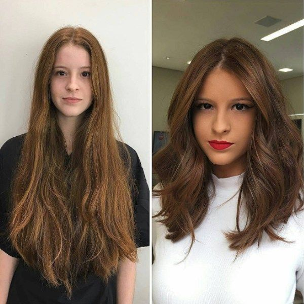 Mind Blowing Hair Transformation Before After Photos Gallery Long To Short Hair Should Length Hair Styles Long Hair Styles