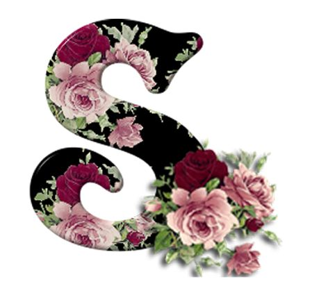 S Alphabet In Rose S with flowers ...