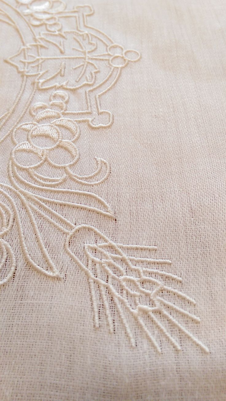 Close up embroidery sample