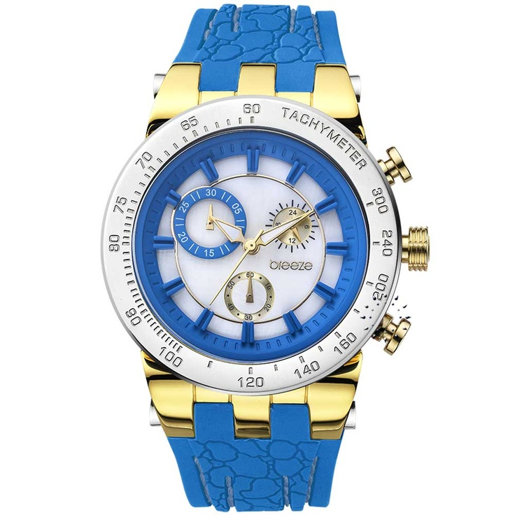 BREEZE Desire Chrono Blue Rubber Strap Μοντέλο: 110011.3 Τιμή: 190€ http://www.oroloi.gr/product_info.php?products_id=30566