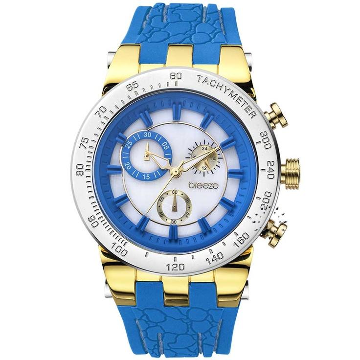 BREEZE Desire Chrono Blue Rubber Strap Μοντέλο: 110011.3 Τιμή: 190€ http://www.oroloi.gr/product_info.php?products_id=30566