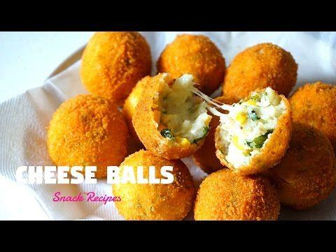 (34) Cheese Balls | Cheesy Snacks | Ramadan Recipes - YouTube