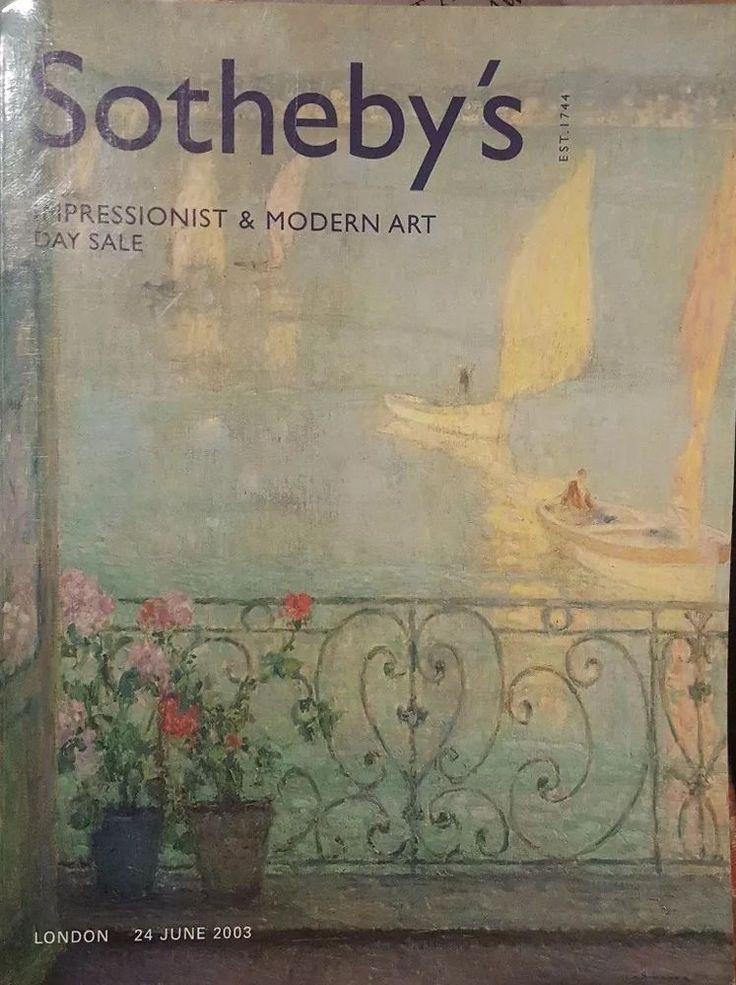 SOTHEBYS LONDON IMPRESSIONIST & MODERN ART DAY SALE JUNE 24 2003 SALE L03005