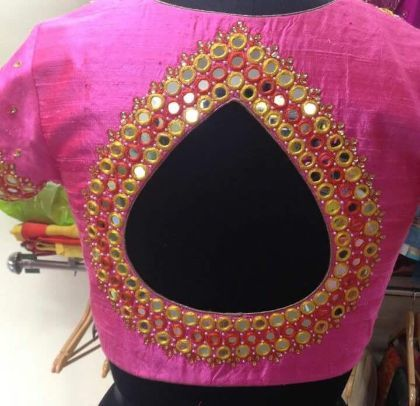 mirror work blouse design