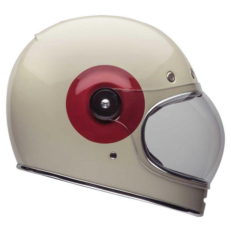 Bell Bullitt Motorcycle/Bike Crash Helmet- Vintage/Classic/Star Style/Cafe Racer | eBay