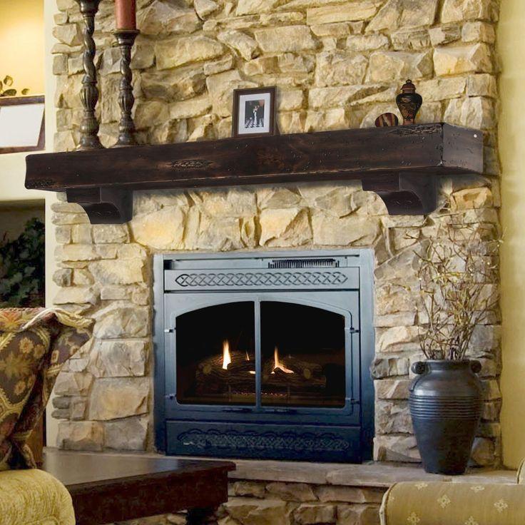 Pearl Mantels 412 72 70 Shenandoah Pine 72 Inch Wall Shelf Rustic Cherry Home