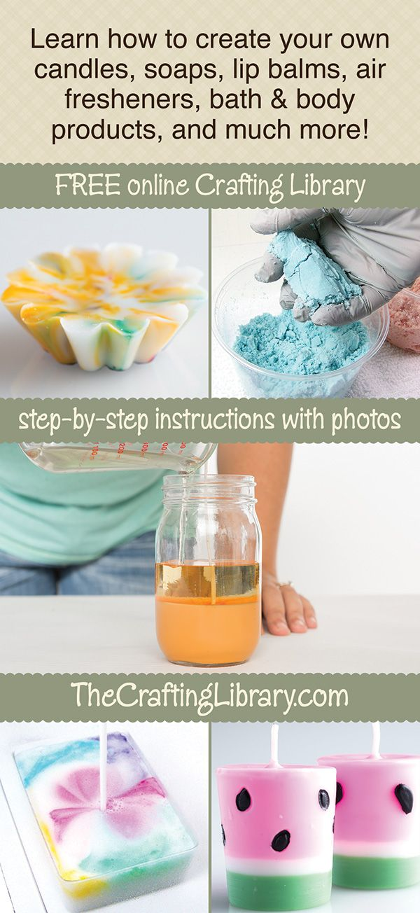 CandleHelp & Candle Making 101 - Candle Making Instructions for CandleMaking Fun! It's easier than you think with our free tutorials.  www.TheCraftingLibrary.com #candlemaking