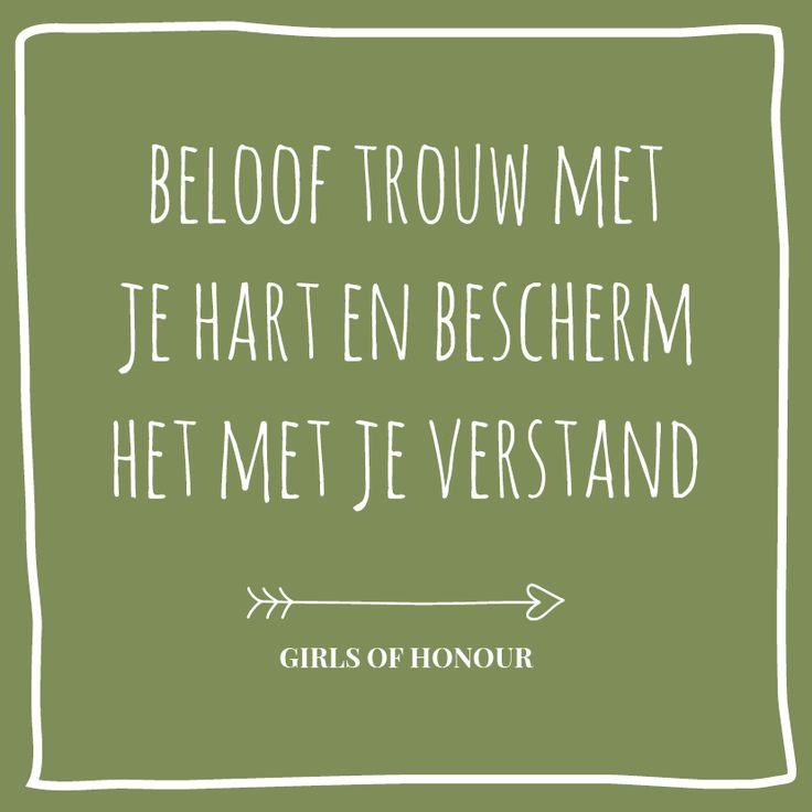 Over trouwen gesproken // Girls of honour #liefde #liefdesquote #quote…