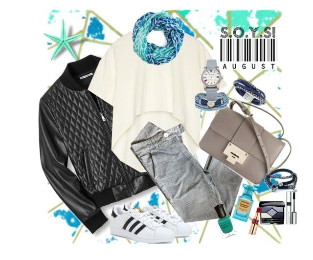 """""""Street star!"""" by storyofyourstyle on Polyvore featuring Rebecca Minkoff, Oak, Jimmy Choo, adidas, Kate Spade, Tom Ford, Deborah Lippmann, Christian Dior, By Terry and Yves Saint Laurent"""