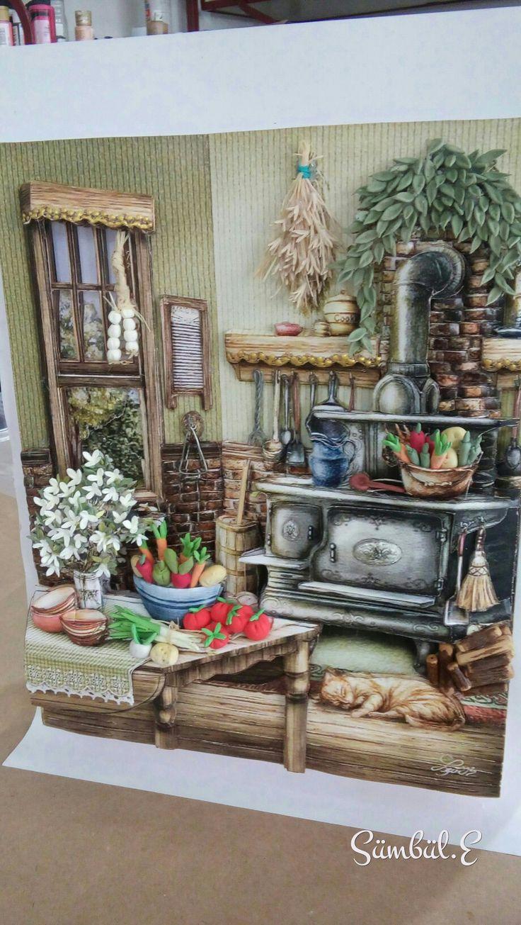 Rezzan'ın mutfağı#kağıt rölyef#SÜMBÜL ELDEK