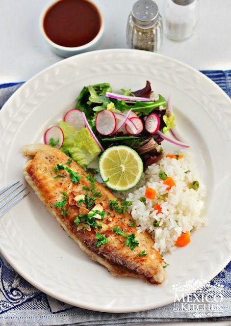 Mexico in my Kitchen: Filete de pescado al mojo de ajo - Fish Filets in garlic. Authentic Mexican Food Recipes Traditional Blog