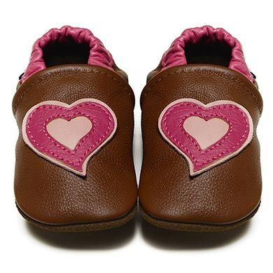 Sweet Hearts - Soft Sole Baby Shoes | RECOMMENDED by podiatrists as the best first shoe choice I Fox & Frog