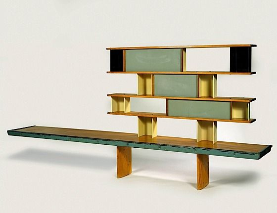 Charlotte Perriand & Jean Prouvé Workshop  bookcase for the Maison de la Tunisie (1953)