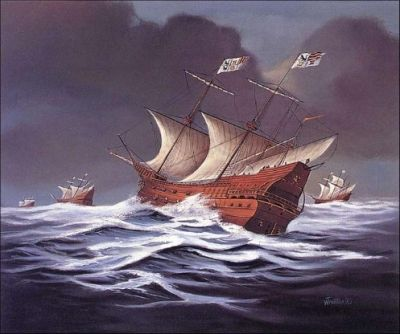 To combat this constant danger, in the 1560s the Spanish adopted a convoy system. A treasure fleet or flota would sail annually from Seville (and later from Cádiz) in Spain, carrying passengers, troops, and European manufactured goods to the Spanish colonies of the New World. This cargo, though profitable, was really just a form of ballast for the fleet as its true purpose was to transport the year's worth of silver to Europe