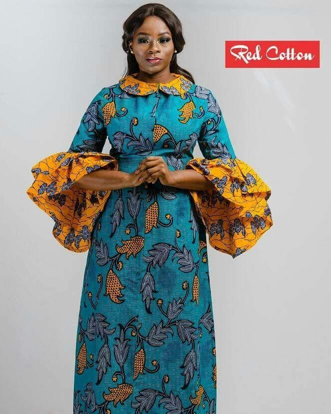 f5566d1f79 Long Peter Pan Collar Dress from RED COTTON. Contact  +233(0)207053652   redcottonconfidence  redcottonclothing