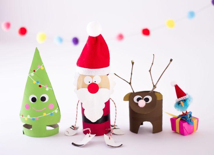 Auch zu Weihnachten kann man mit Klorollen basteln... wundertuetchen.de