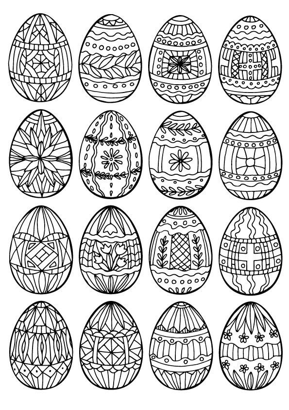 Easter Bunny With Big Eggs 15 Coloring Page Coloring Easter Eggs, Egg  Coloring Page, Easter Egg Coloring Pages